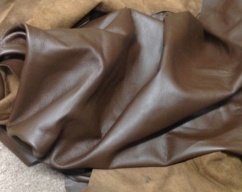 BRFE11.  Brown Pebbled Brahma Leather Cowhide