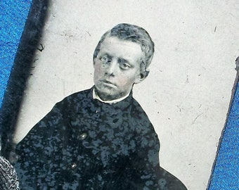 Tintype Hand Tinted Young Boy