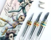 Refill Kit - Replacement Lead and Erasers for the Mab Graves limited edition Alvin Draft Matic mechanical pencils  in .03 .05 and .07 sizes