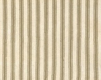 PADDED Ironing Board Cover Custom designer board cover ELASTIC EDGES taupe khaki and cream heavyweight ticking fabric select the size