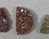 Reserved Listing 3 Andradite garnet Drusy Cabochons