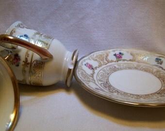Tea Set, Demitasse Set, Schumann China, Bavarian China, Dresdner Art Pattern 18557, Bavarian Porcelain, Expresso Set