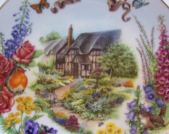 Plate, Collectors Plate, Dot Barlowe, English Country Garden, First Issue No. 4550DH
