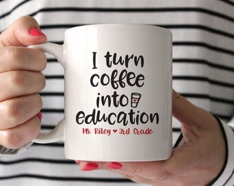 Teacher Gifts Personalized Teacher Gift Teacher Mug Teacher Coffee Mug Preschool Teacher Gifts New Teacher Gift Kindergarten Teacher Gift