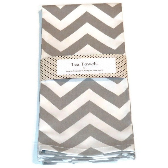 tea towels grey and white chevron teatowels chrevron gray. Black Bedroom Furniture Sets. Home Design Ideas