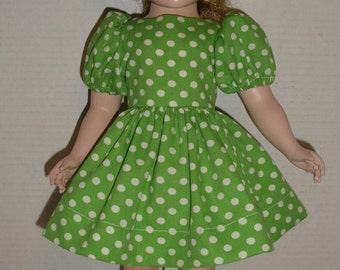 "Polka Dot Dress for 17-18"" Hard Plastic Doll.  Nancy Ann Style Show Doll.  Sweet Sue Doll.  Arranbee Nanette Doll."