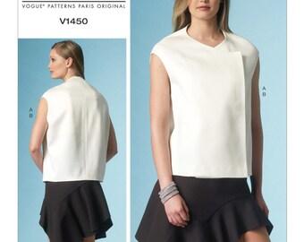 Pick Your Size - Vogue Pattern V1450 by GUY LAROCHE - Misses' Drop-Shoulder Top and Shaped-Flounce Skirt - Vogue Paris Original