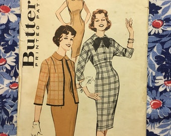 Butterick 9289 COMPLETE Vintage Pattern Mix & Match Dress and Jacket size 18 bust 38