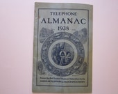 vintage 1938 Telephone Almanac - printed for Bell System Telephone Subscribers