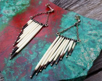 Native American Porcupine Quill Earrings