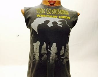 Vintage The Meteors Wreckin' Crew 80's Tee Shirt (os-ts-87)