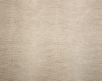 Neutral Tan Snakeskin Vinyl Upholstery