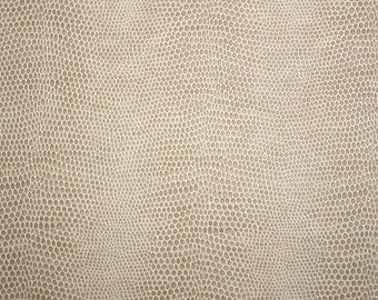 GNBU013 Vanilla Neutral Tan Snakeskin Vinyl Upholstery