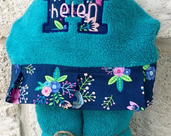 Personalized Hooded Towel over 200 fabric choices