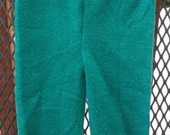 Upcycled Wool Diaper Cover, Longies, Newborn, green