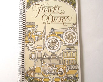Spiral Bound Travel Diary, Vintage Unused Blank Book From Current Cards (A1)