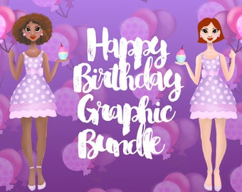 Birthday Graphics Bundle and Patterns