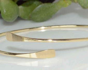 gold bangle bracelet, narrow adjustable bangle, silver bangle bracelet, narrow bangle, minimalist bangle, bangle gift with message card