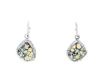 NEW LANDER TURQUOISE Earrings Sterling Free Form NewWorldGems