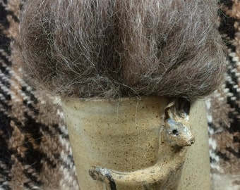1 oz.  llama roving - Brown blend