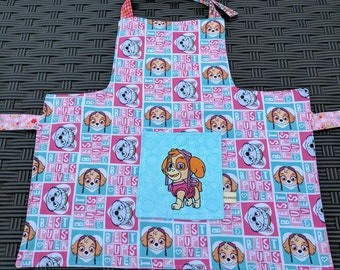 Girls Apron Paw Patrol Reversible Kids Apron Kids Art Smock Toddler Skye Everest Paw Patrol Apron Girls Apron Handmade Apron 4T-6
