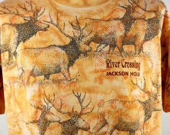 Elk T-Shirt, River Crossing - Jackson Hole, Wyoming