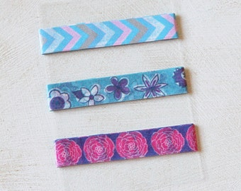 Floral - Flowers - Chevron - Washi Tape SAMPLE - 24 inches