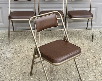 Vintage Set of 4 Samsonite Metal Folding Chairs - Unused Original Box