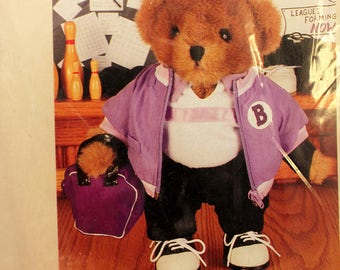 Teddy Bear Outfit Bowler Bowling Treasured Toggery 12 inch NIP