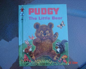 Pudgy The Little Bear by Marjorie Barrows - The Tip-Top Elf Book - Great Condition No Writing