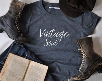 Vintage Soul women's grey heather t-shirt