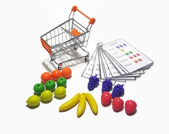 Learning practical life grocerie shopping, counting busy bag for toddler preschooler kindergarten, 4 years old activity, learning number.
