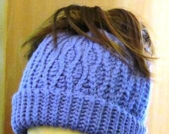 Convertible Waves Messy Bun / Cowl Hat Pattern