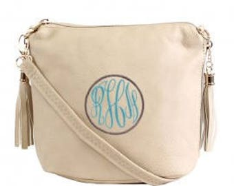 Monogrammed crossbody/ crossbody purse/ crossbody bag/ embroidered purse/ side purse/ personalized crossbody bag