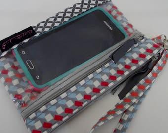 Dollbirdies Clear Pocket Cell Phone Smart Phone Wristlet, Wristlet, Phone Wristlet, Phone Wallet