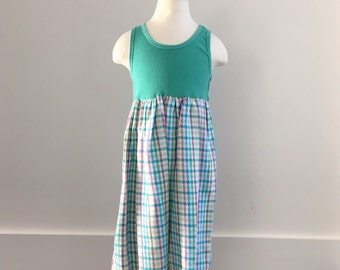 Toddler tank dress: Teal, Size 5T, Ready to Ship