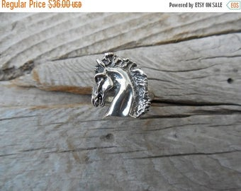 ON SALE Horse ring handmade in sterling silver