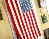 Vintage Everwear Flag, Vintage American Flag, Americana, Patriotic Flag, Flag Banner 3x5