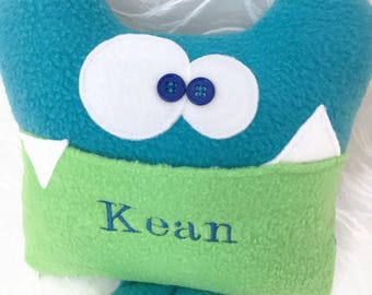 Soft Monster Plush, Tooth Fairy, Personalized Tooth Fairy Pillow, personalized plush gift for kids, funny stuffed animal gift for kids