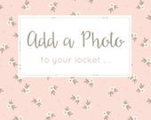Add a Photo - Photo Lockets, Picture Lockets, Personalized Lockets, Personalized Jewelry, Add-on with Purchase of Locket from The Locket Box