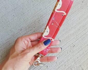 The Key Fob - Wristlet - Flamingos