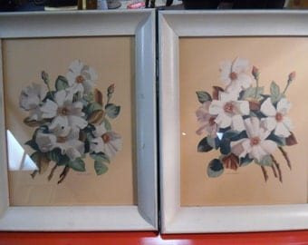 Vintage floral print, old floral print, flower print, fifties floral print.