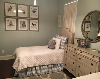Deposit Listing-Sewing Fee Only-Buffalo Check Gathered Bed Skirts-Client Provides Fabric-Gathered Bed Skirts - Twin - Full - Queen - King