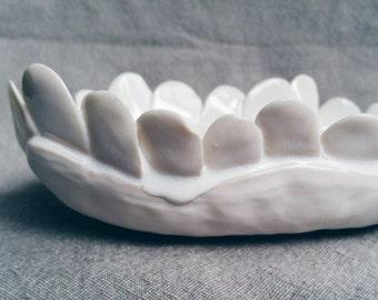 Cloud flower dish.  Handmade porcelain, one of a kind.