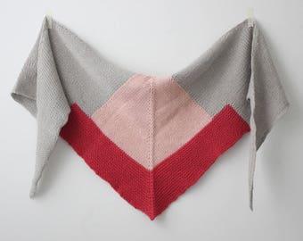 Direct Download PDF Knitting Pattern - Shape Shifter Scarf - Womens Scarf Knitting Pattern