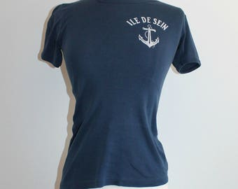 French Ile de Sein Nautical T-Shirt with Anchor