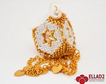 Tutorial Christmas Ornament - Beading Pattern, Beading Tutorial by Ellad2