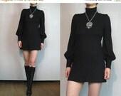 VALENTINE SALE BIBA Italian Wool Leg of Mutton Mini Sweater Dress