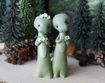 Dinosaur Wedding Cake Topper by Bonjour Poupette