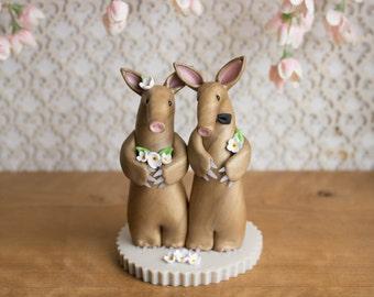 Aardvark Wedding Cake Topper by Bonjour Poupette
